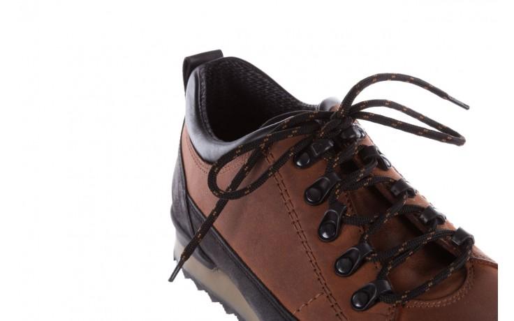 Półbuty bayla-081 855 brązowo-czarne 19, skóra naturalna  - trzewiki - buty męskie - mężczyzna 5