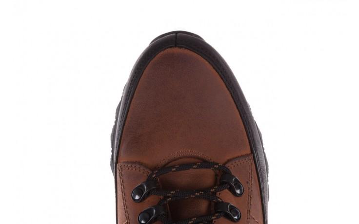 Półbuty bayla-081 855 brązowo-czarne 19, skóra naturalna  - trzewiki - buty męskie - mężczyzna 6