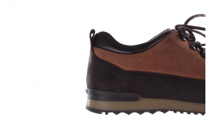 Półbuty bayla-081 855 brązowo-czarne 19, skóra naturalna  - trzewiki - buty męskie - mężczyzna 7