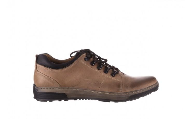 Półbuty bayla-081 862 beżowe, skóra naturalna  - trzewiki - buty męskie - mężczyzna
