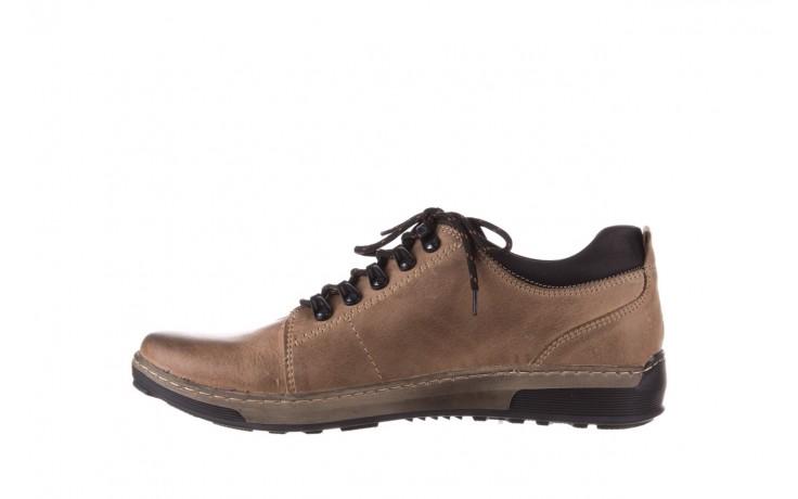 Półbuty bayla-081 862 beżowe, skóra naturalna  - trzewiki - buty męskie - mężczyzna 2