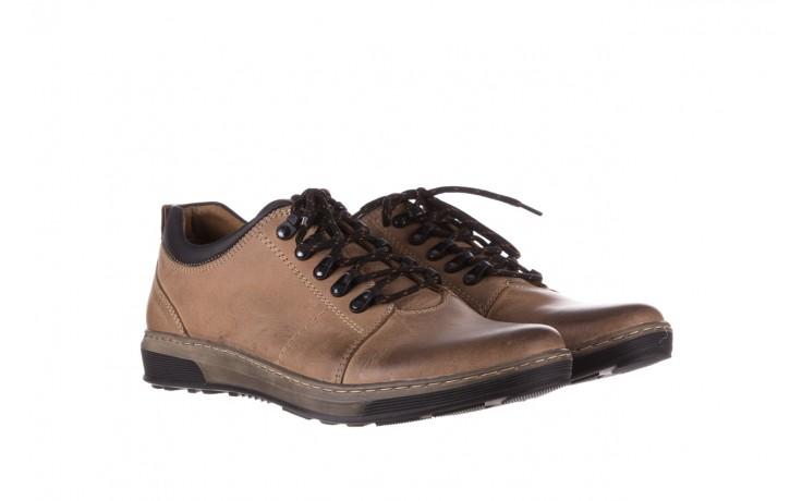 Półbuty bayla-081 862 beżowe, skóra naturalna  - trzewiki - buty męskie - mężczyzna 1