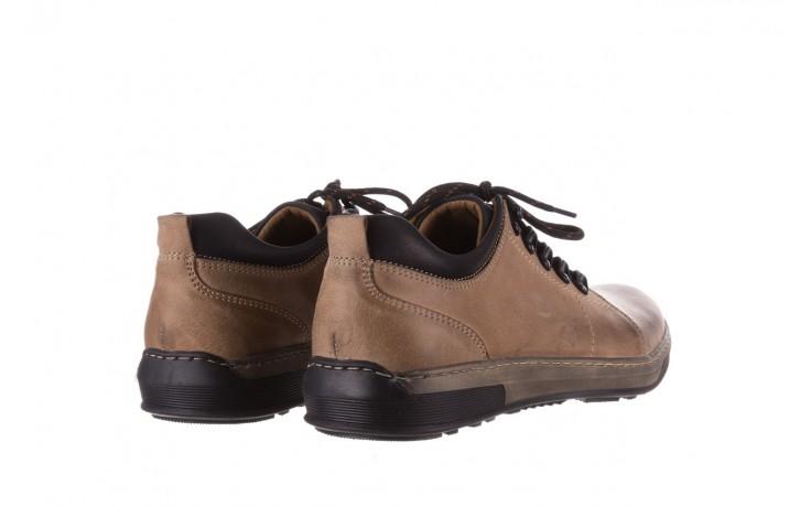 Półbuty bayla-081 862 beżowe, skóra naturalna  - trzewiki - buty męskie - mężczyzna 3