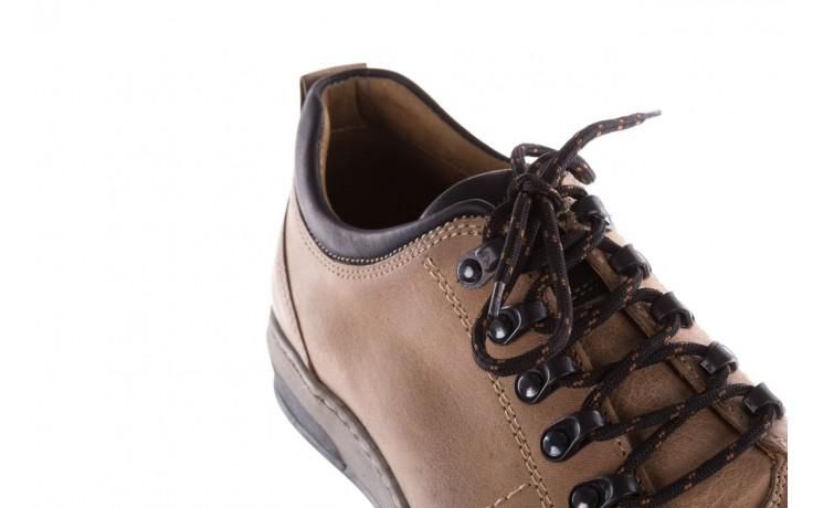 Półbuty bayla-081 862 beżowe, skóra naturalna  - trzewiki - buty męskie - mężczyzna 5