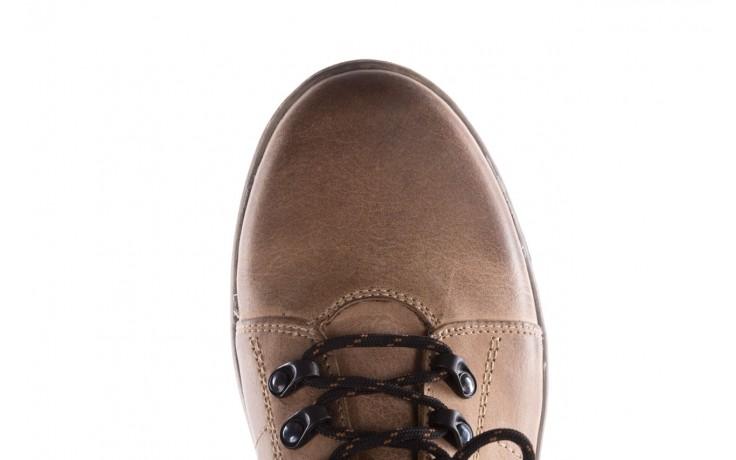 Półbuty bayla-081 862 beżowe, skóra naturalna  - trzewiki - buty męskie - mężczyzna 6