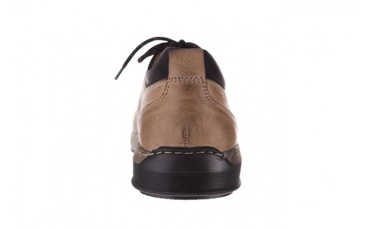 Półbuty bayla-081 862 beżowe, skóra naturalna  - trzewiki - buty męskie - mężczyzna 8