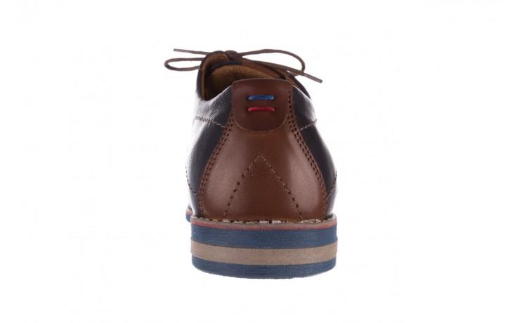 Półbuty bayla-081 771 ii granatowe 19, skóra naturalna  - półbuty - buty męskie - mężczyzna 9