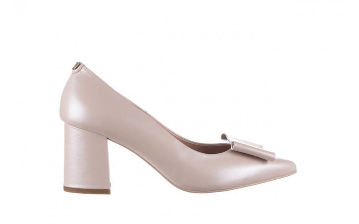 Czółenka bayla-056 9404-1459 beż perła, skóra naturalna  - skórzane - czółenka - buty damskie - kobieta