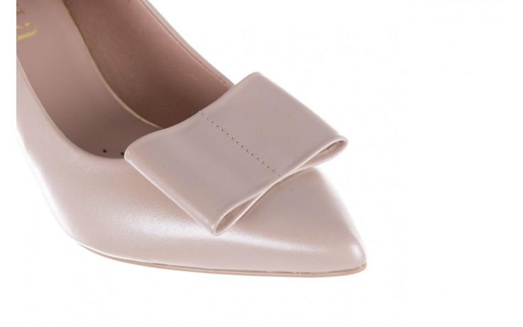 Czółenka bayla-056 9404-1459 beż perła, skóra naturalna  - skórzane - czółenka - buty damskie - kobieta 7