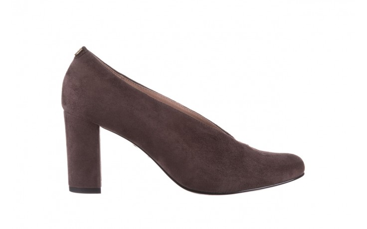 Czółenka bayla-056 9147-1462 szary, skóra naturalna  - zamszowe - czółenka - buty damskie - kobieta