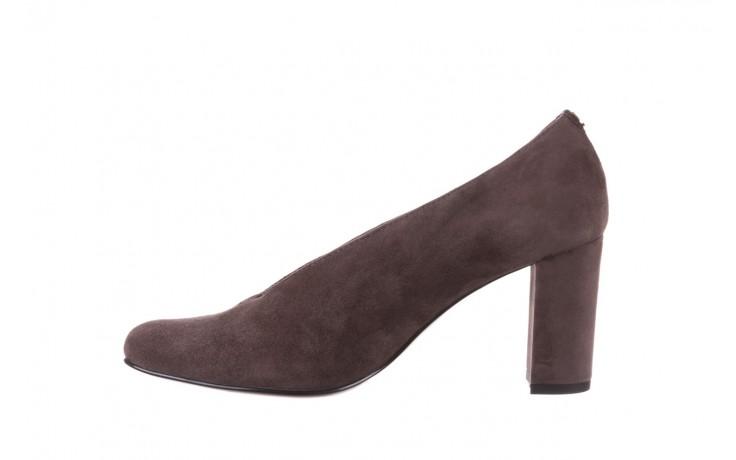 Czółenka bayla-056 9147-1462 szary, skóra naturalna  - zamszowe - czółenka - buty damskie - kobieta 3