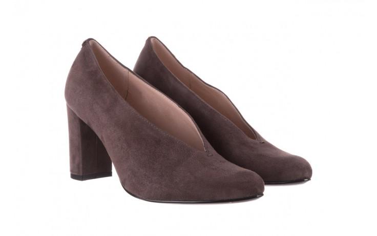 Czółenka bayla-056 9147-1462 szary, skóra naturalna  - zamszowe - czółenka - buty damskie - kobieta 1