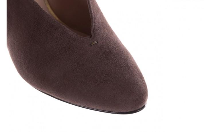 Czółenka bayla-056 9147-1462 szary, skóra naturalna  - zamszowe - czółenka - buty damskie - kobieta 6