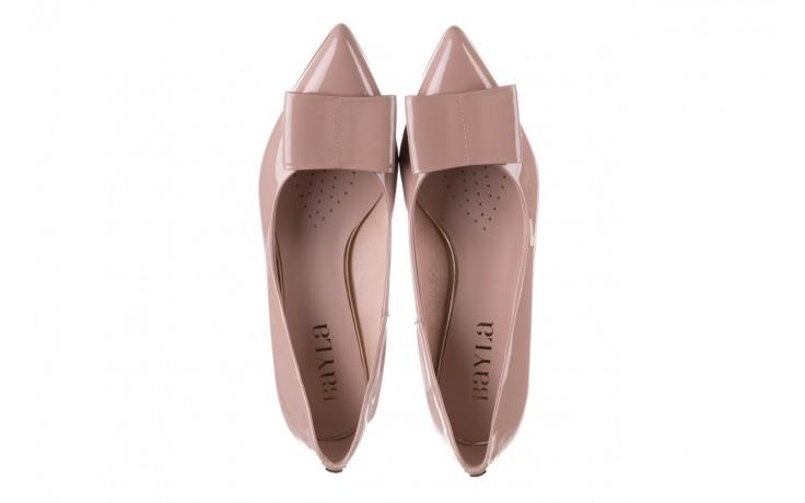 Czółenka bayla-056 9404-430 róż, skóra naturalna lakierowana  - czółenka - buty damskie - kobieta 5