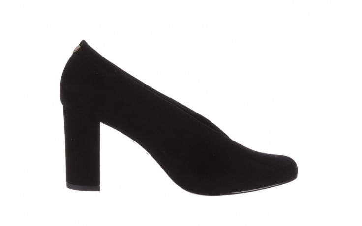 Czółenka bayla-056 9147-21 czarny, skóra naturalna  - na słupku - czółenka - buty damskie - kobieta