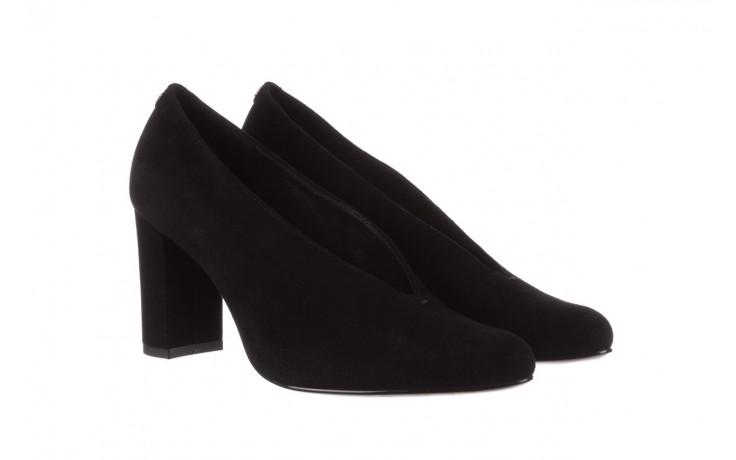 Czółenka bayla-056 9147-21 czarny, skóra naturalna  - na słupku - czółenka - buty damskie - kobieta 1