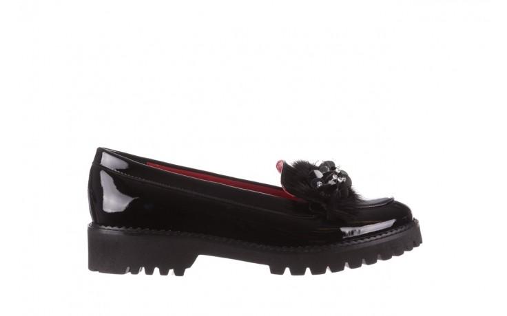 Półbuty bayla-157 b019-090-p czarny 157024, skóra naturalna lakierowana  - półbuty - buty damskie - kobieta
