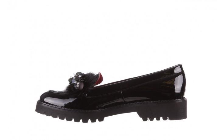 Półbuty bayla-157 b019-090-p czarny 157024, skóra naturalna lakierowana  - półbuty - buty damskie - kobieta 3