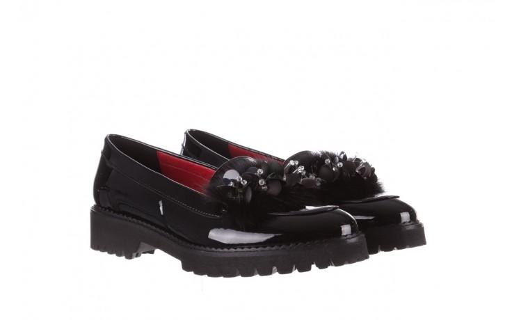 Półbuty bayla-157 b019-090-p czarny 157024, skóra naturalna lakierowana  - półbuty - buty damskie - kobieta 1
