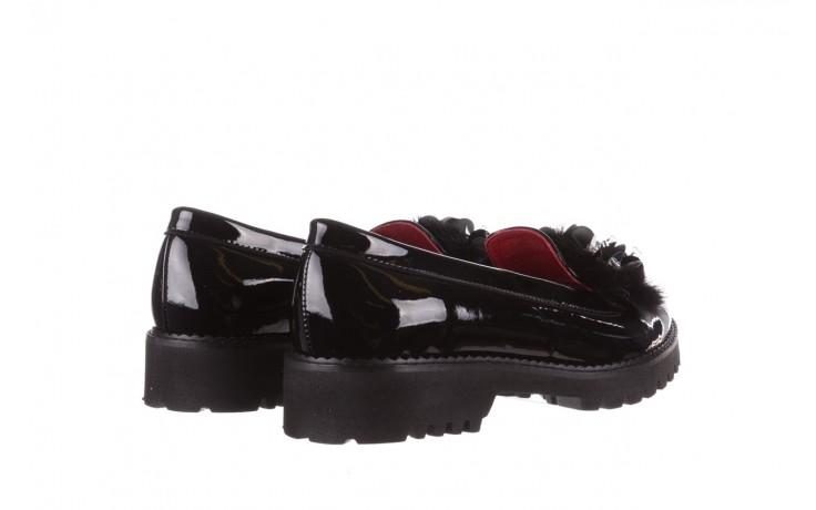 Półbuty bayla-157 b019-090-p czarny 157024, skóra naturalna lakierowana  - półbuty - buty damskie - kobieta 4