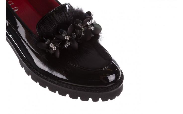 Półbuty bayla-157 b019-090-p czarny 157024, skóra naturalna lakierowana  - półbuty - buty damskie - kobieta 7