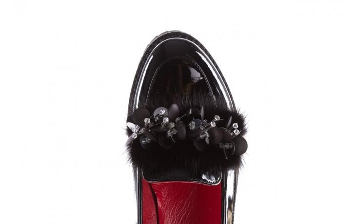Półbuty bayla-157 b019-090-p czarny 157024, skóra naturalna lakierowana  - półbuty - buty damskie - kobieta 6