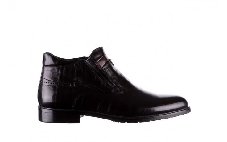Trzewiki john doubare ygfr-z106-305-1 black, czarny, skóra naturalna  - buty męskie - mężczyzna