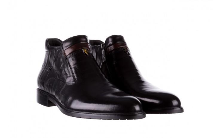 Trzewiki john doubare ygfr-z106-305-1 black, czarny, skóra naturalna  - buty męskie - mężczyzna 1