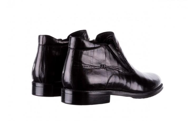 Trzewiki john doubare ygfr-z106-305-1 black, czarny, skóra naturalna  - buty męskie - mężczyzna 3