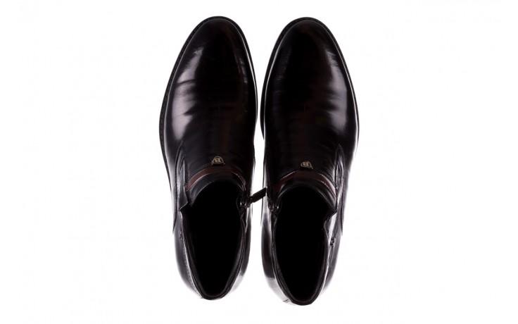 Trzewiki john doubare ygfr-z106-305-1 black, czarny, skóra naturalna  - buty męskie - mężczyzna 4