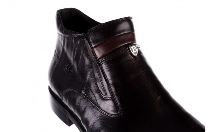 Trzewiki john doubare ygfr-z106-305-1 black, czarny, skóra naturalna  - buty męskie - mężczyzna 5