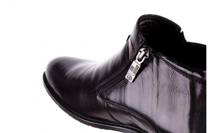 Trzewiki john doubare ygfr-z106-305-1 black, czarny, skóra naturalna  - buty męskie - mężczyzna 6