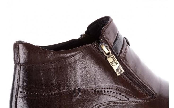 Trzewiki john doubare ygfr-z106-306-2 brown, brązowy, skóra naturalna  - sale - buty męskie - mężczyzna 7