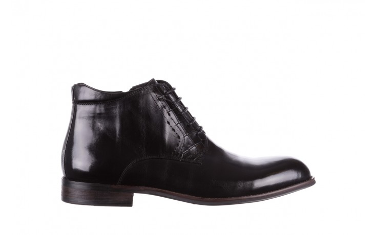 Trzewiki brooman l9002-26-a13-r black, czarny, skóra naturalna  - półbuty - buty męskie - mężczyzna