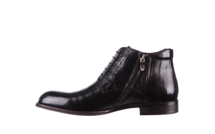 Trzewiki brooman l9002-26-a13-r black, czarny, skóra naturalna  - półbuty - buty męskie - mężczyzna 2