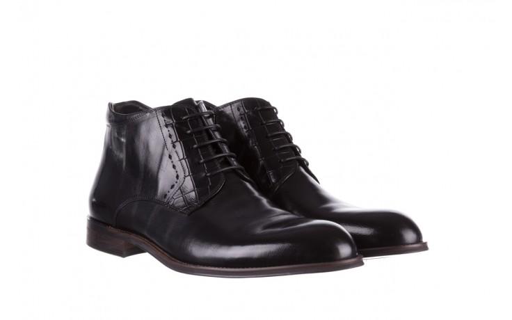 Trzewiki brooman l9002-26-a13-r black, czarny, skóra naturalna  - półbuty - buty męskie - mężczyzna 1