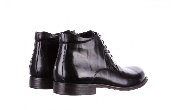 Trzewiki brooman l9002-26-a13-r black, czarny, skóra naturalna  - półbuty - buty męskie - mężczyzna 3