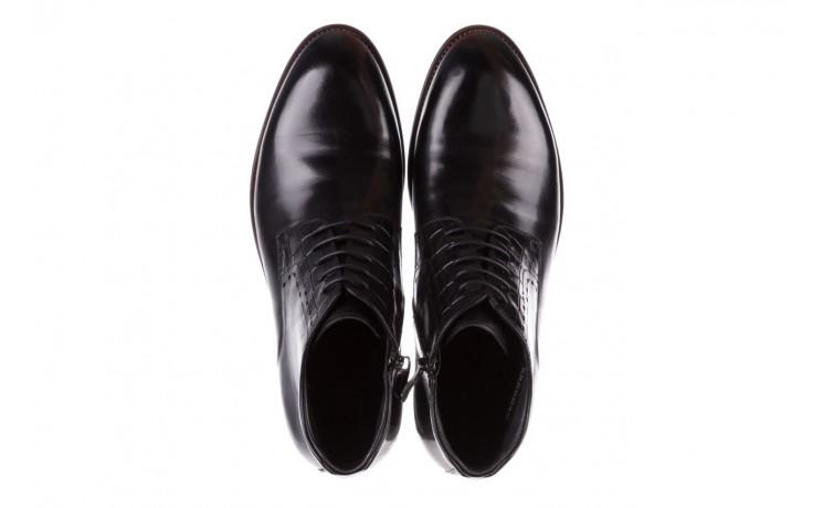 Trzewiki brooman l9002-26-a13-r black, czarny, skóra naturalna  - półbuty - buty męskie - mężczyzna 4