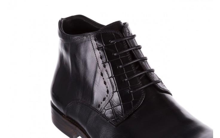 Trzewiki brooman l9002-26-a13-r black, czarny, skóra naturalna  - półbuty - buty męskie - mężczyzna 5