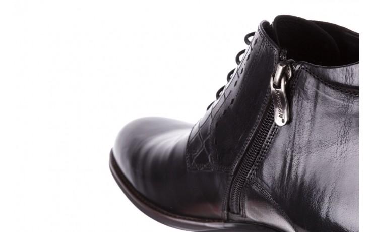 Trzewiki brooman l9002-26-a13-r black, czarny, skóra naturalna  - półbuty - buty męskie - mężczyzna 6