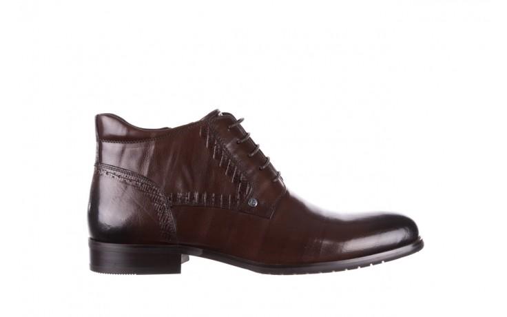 Trzewiki brooman h810-310-p3r brown, brązowy, skóra naturalna  - buty męskie - mężczyzna