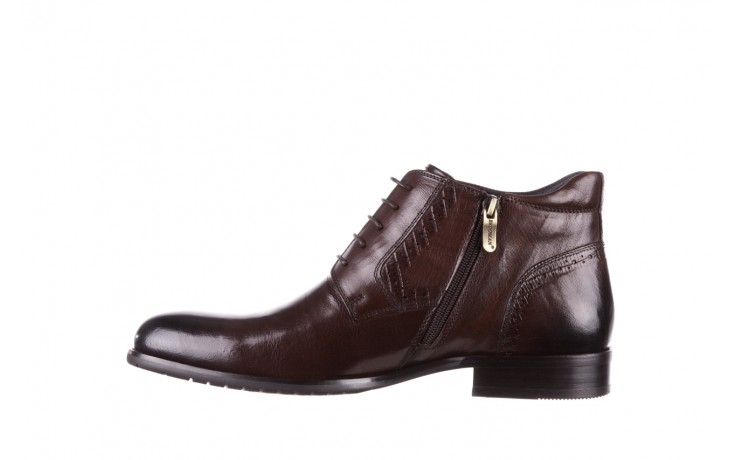 Trzewiki brooman h810-310-p3r brown, brązowy, skóra naturalna  - buty męskie - mężczyzna 2