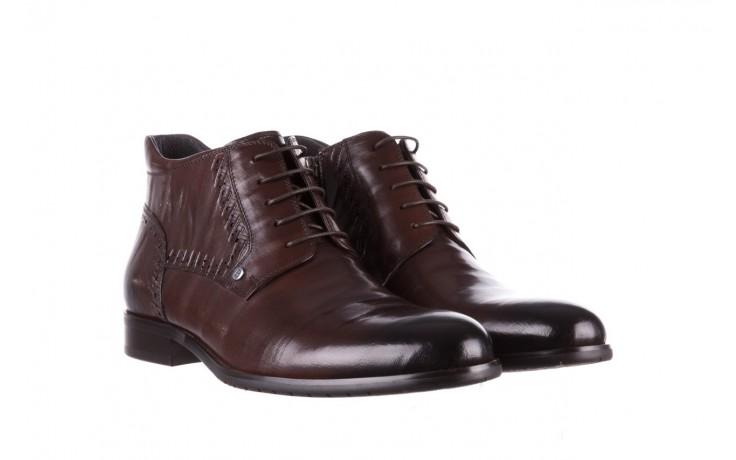 Trzewiki brooman h810-310-p3r brown, brązowy, skóra naturalna  - buty męskie - mężczyzna 1