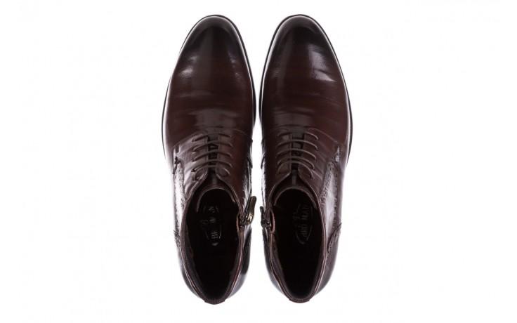 Trzewiki brooman h810-310-p3r brown, brązowy, skóra naturalna  - buty męskie - mężczyzna 4