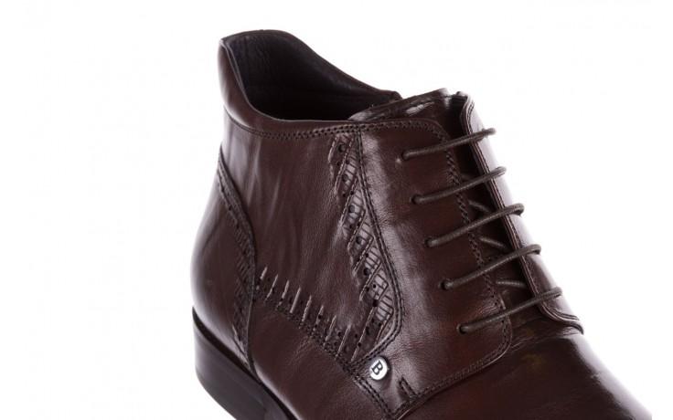 Trzewiki brooman h810-310-p3r brown, brązowy, skóra naturalna  - buty męskie - mężczyzna 5