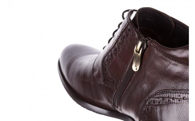 Trzewiki brooman h810-310-p3r brown, brązowy, skóra naturalna  - buty męskie - mężczyzna 6