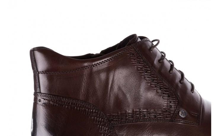 Trzewiki brooman h810-310-p3r brown, brązowy, skóra naturalna  - buty męskie - mężczyzna 7