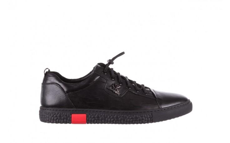 Trampki john doubare 10716-2 black, czarny, skóra naturalna  - niskie - trampki - buty męskie - mężczyzna