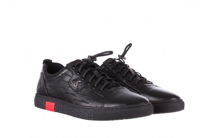 Trampki john doubare 10716-2 black, czarny, skóra naturalna  - niskie - trampki - buty męskie - mężczyzna 1