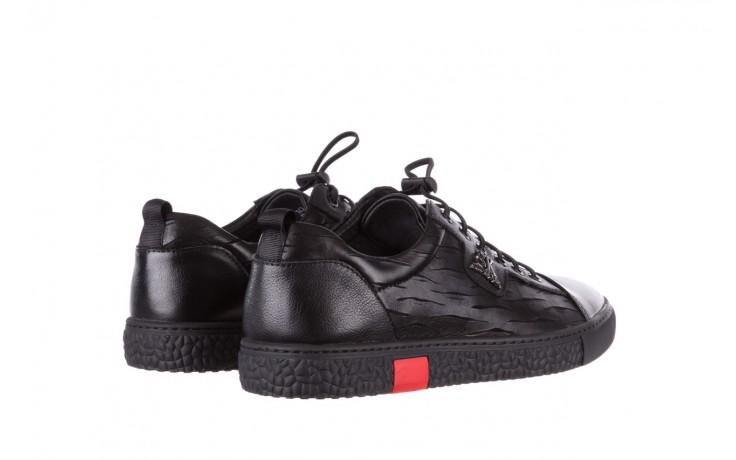Trampki john doubare 10716-2 black, czarny, skóra naturalna  - niskie - trampki - buty męskie - mężczyzna 3